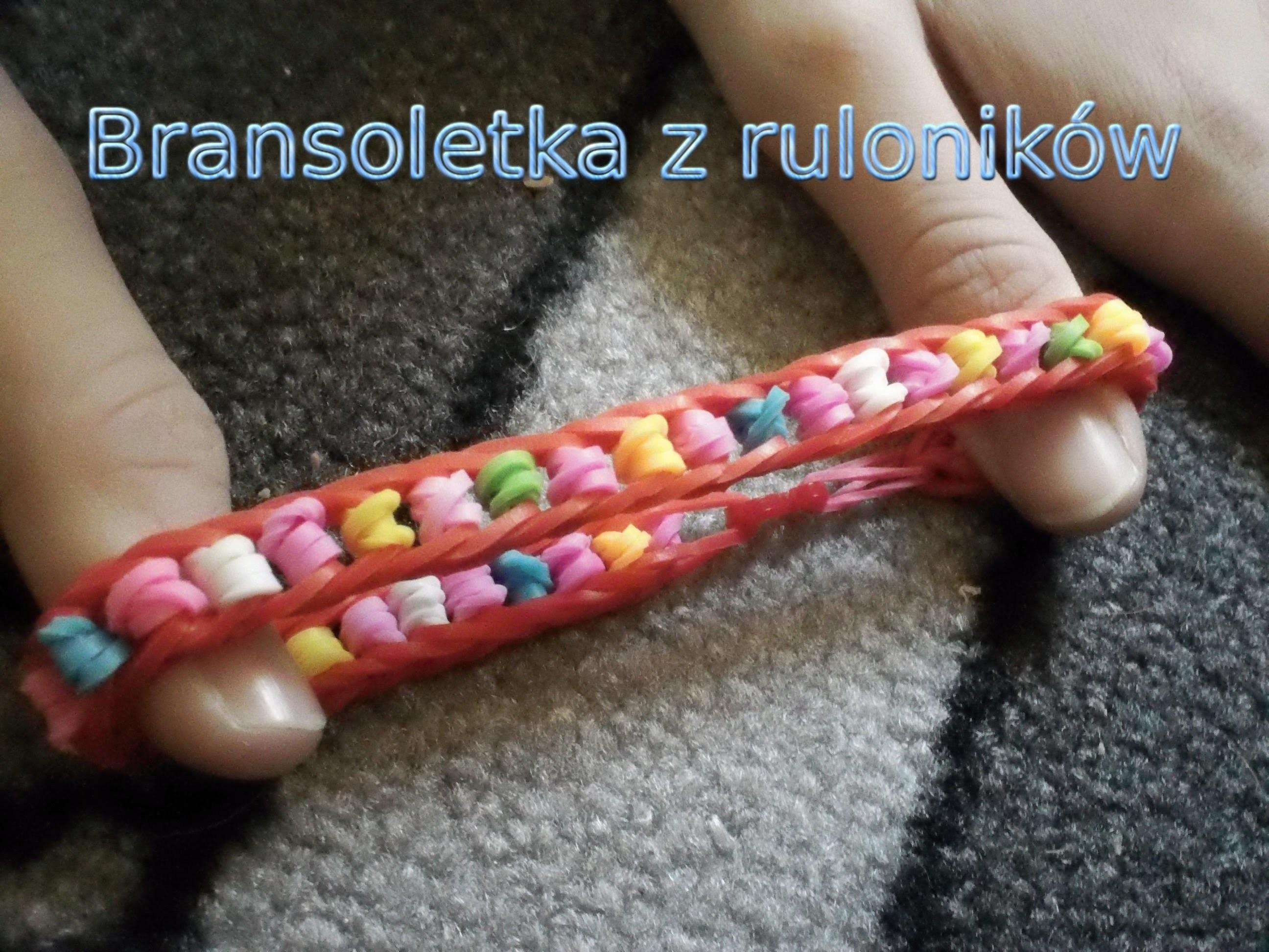 Rainbow Loom Bransoletka z ruloników