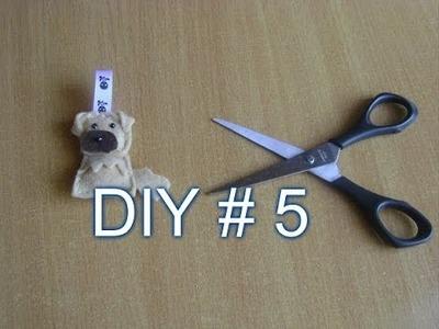 DIY #5 piesek zawieszka z filcu