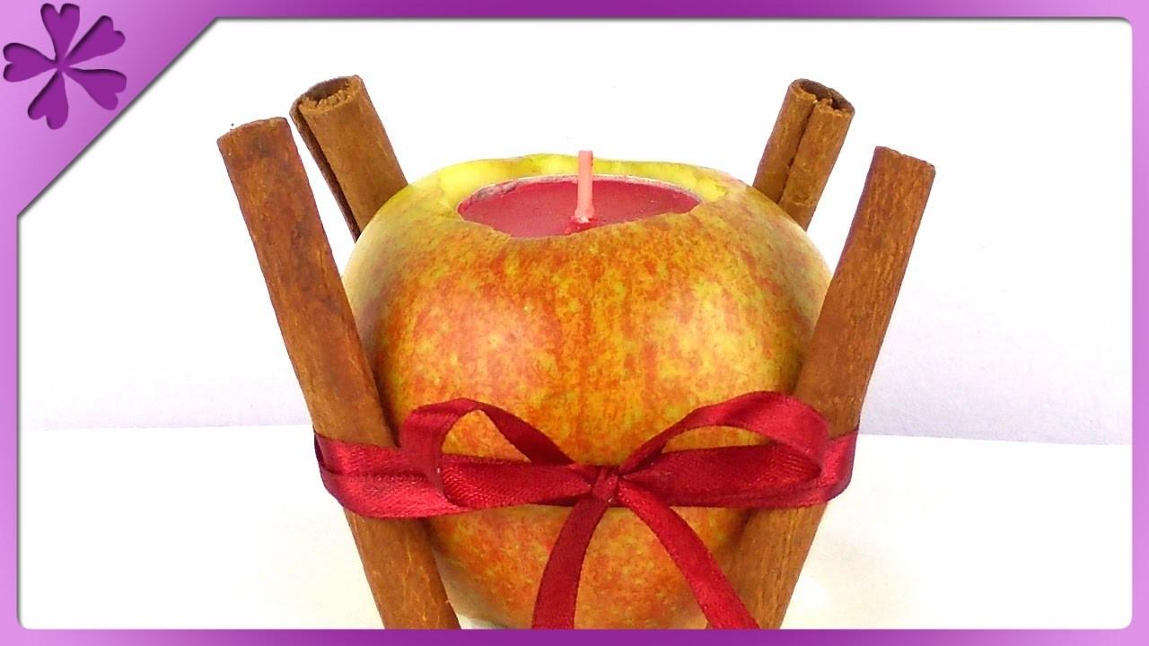 DIY Świecznik z jabłka. Apple candle (+ENG Subtitles) - Na szybko #136