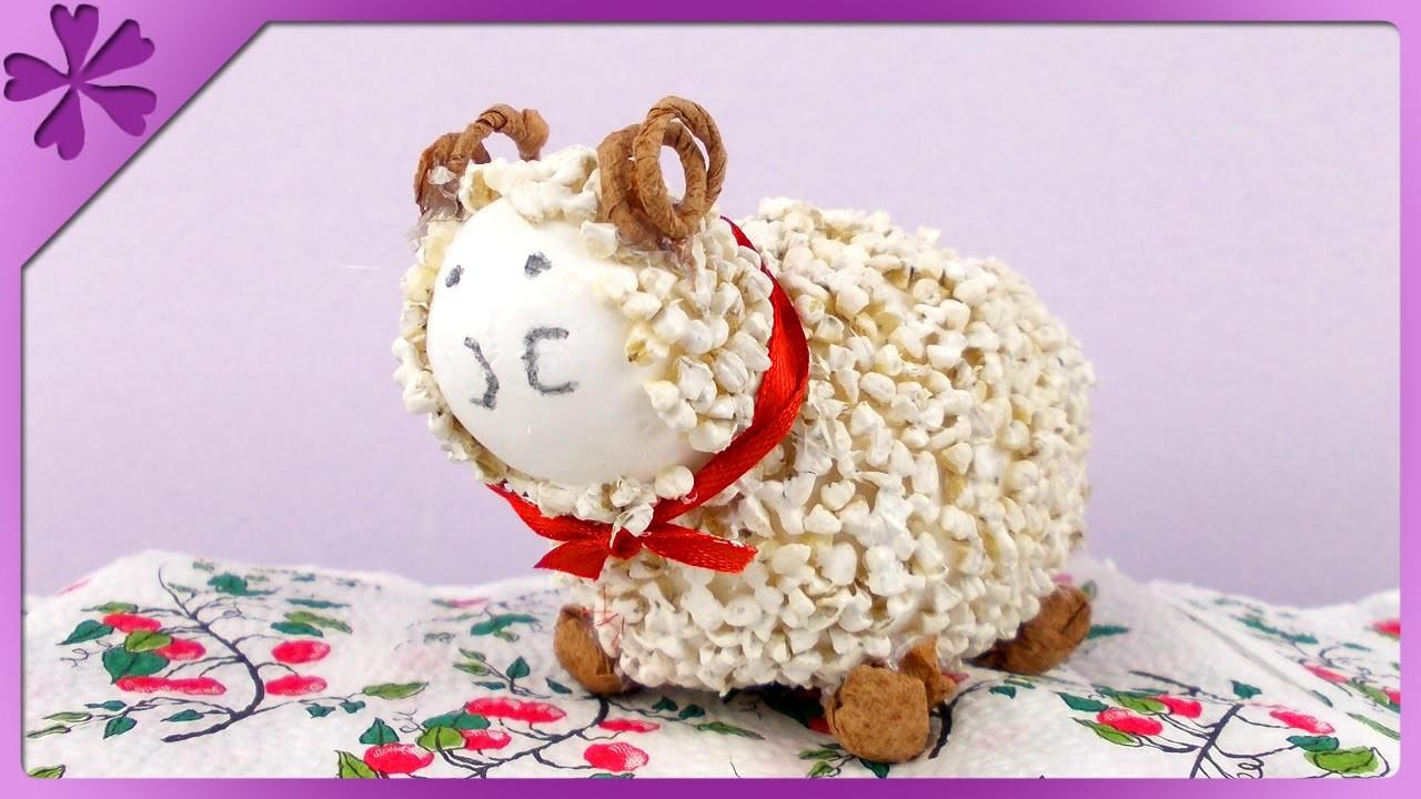 DIY Baranek z kaszy. Groats Easter lamb (+ENG Annotations) - Na szybko #81