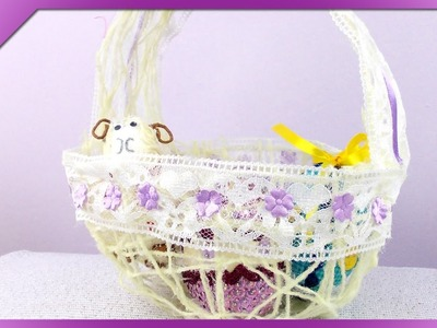 DIY Koszyczek ze sznurka. Twine Easter basket (+ENG Annotations) - Na szybko #82