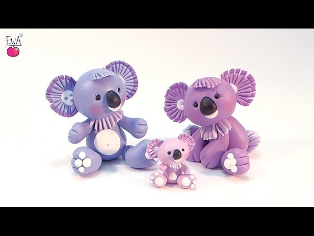 KOALA z modeliny - polymer clay tutorial LETS CLAY