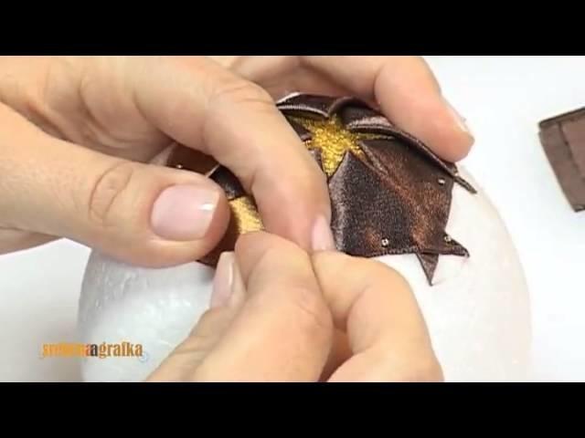 Bombka na choinkę - technika wstążeczkowa (tutorial)