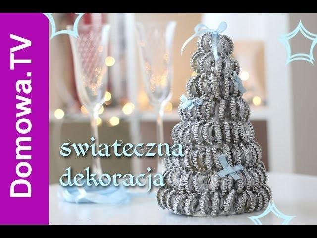 Choinka z makaronu - świąteczna dekoracja stołu