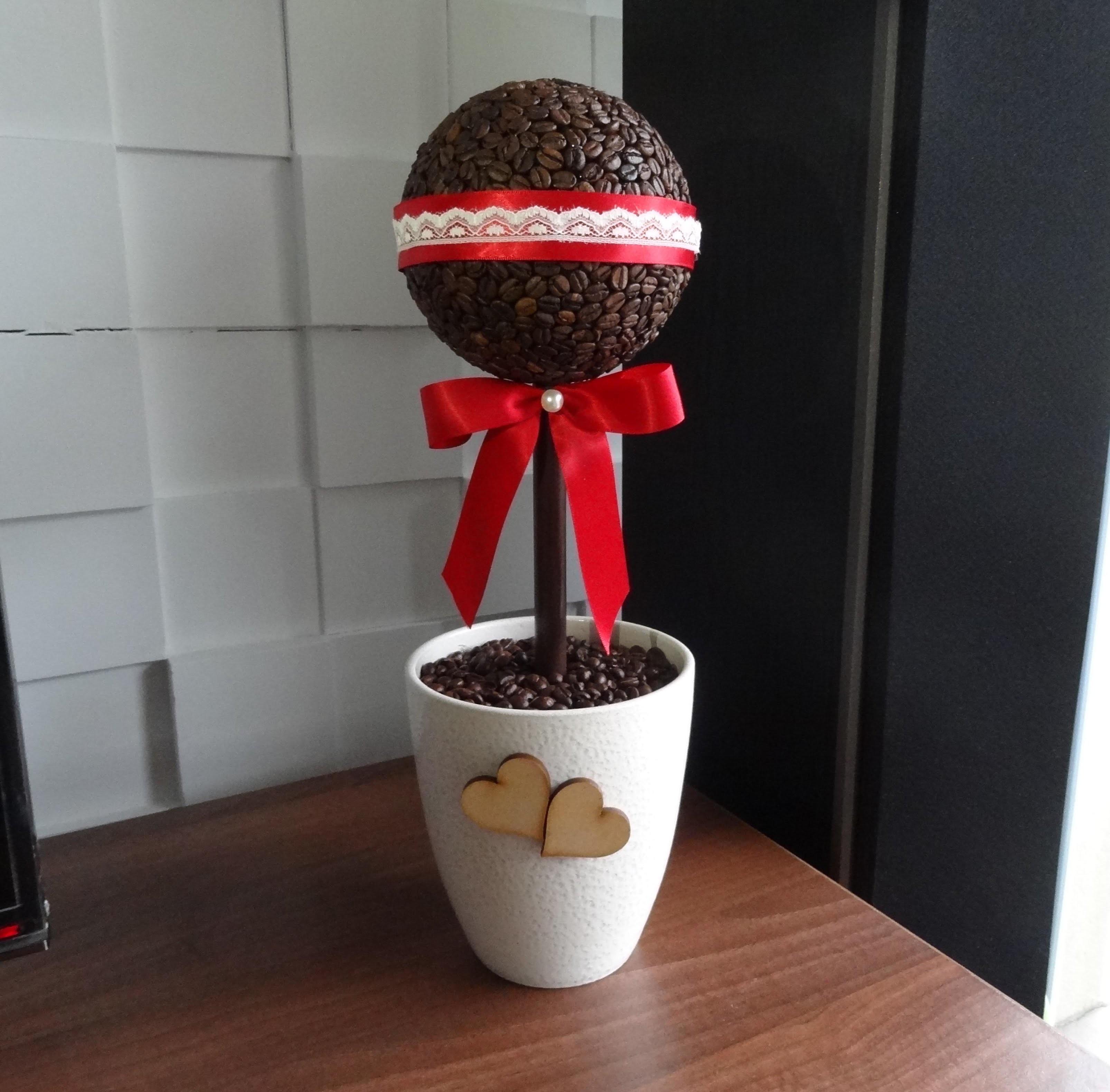 Drzewko z ziaren kawy. coffee tree. jak zrobić drzewko
