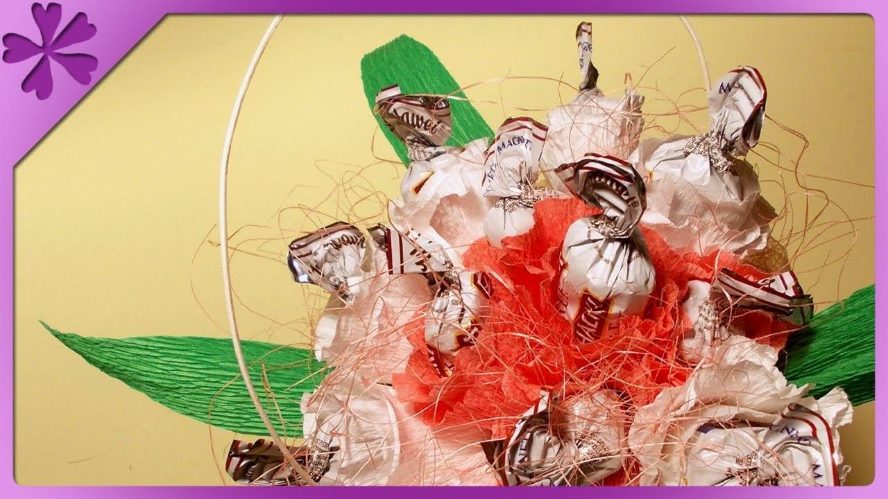 DIY Bukiet z cukierków na Komunię. Candy bouquet (+ENG Annotations) - Na szybko #7