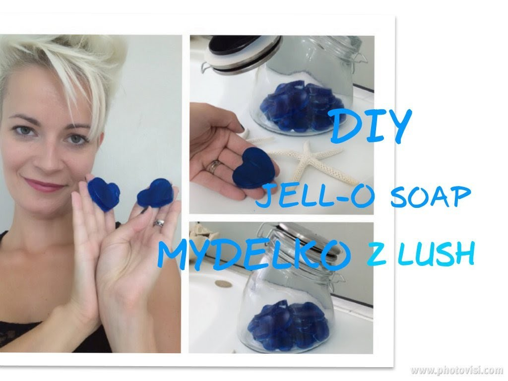 DIY Jell-o Soap. Mydelko z Lush