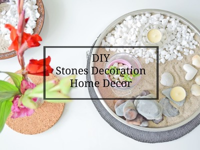 DIY - stones decoration - HOME DECOR!  Dekoracje z kamieni. Zrob to sam