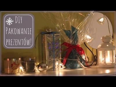 ❄ DIY: ☃ Pakowanie prezentów o różnych kształtach ☆