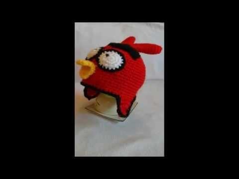 Czapka angry birds. simple crochet beanie. szydełkowa czapka dla dziecka