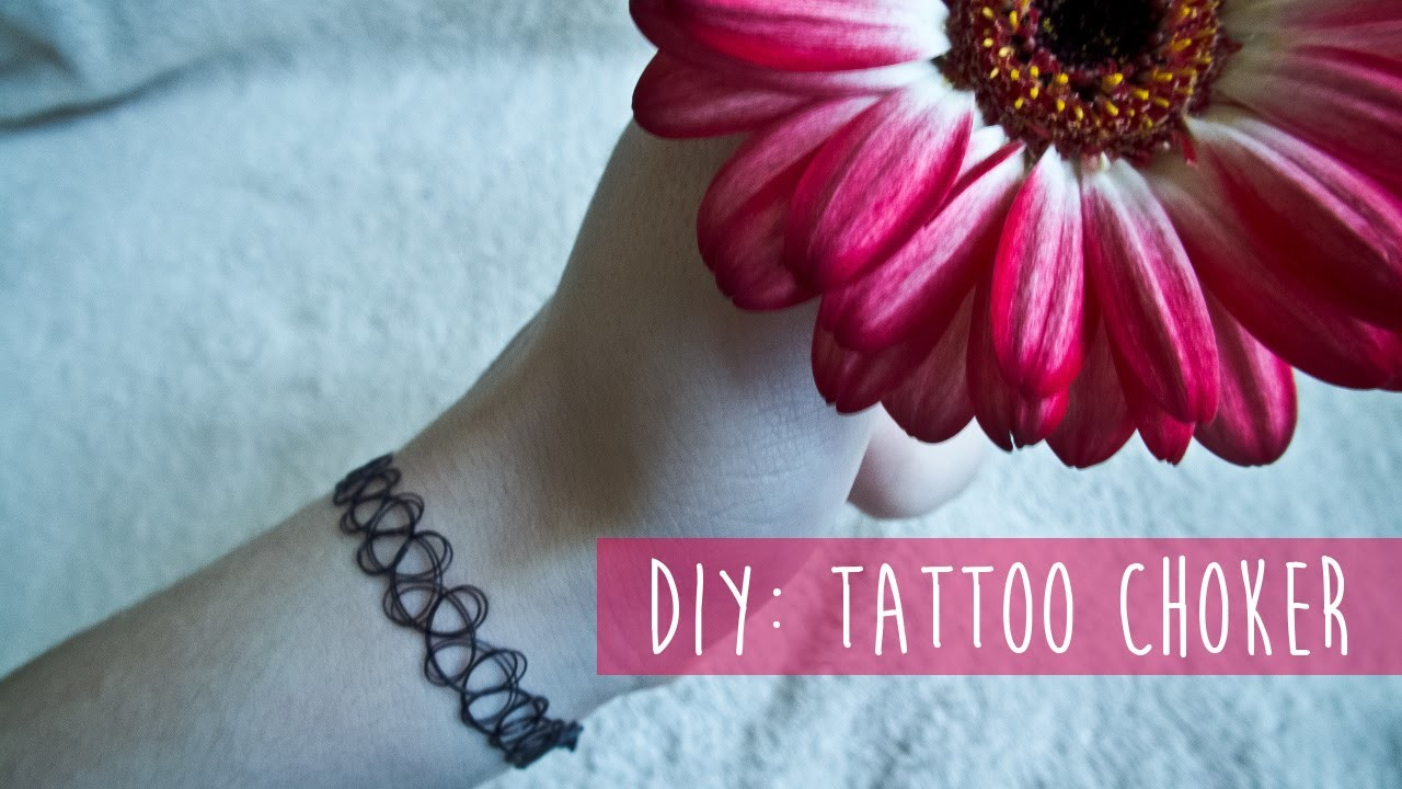 DIY: tattoo choker I atramka Blog