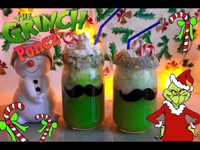 DIY GRINCH PONCZ ❄️ Święta ❄️ Zima diy ❤ Grinch Punch TheAmmisu