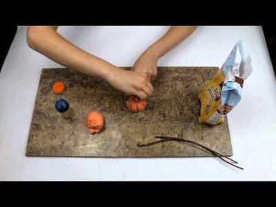 Jesienne dekoracje  z masy solnej Dynia DIY