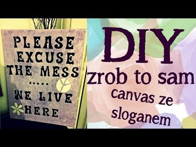 DIY Canvas | zrob to sam | suzannemaried