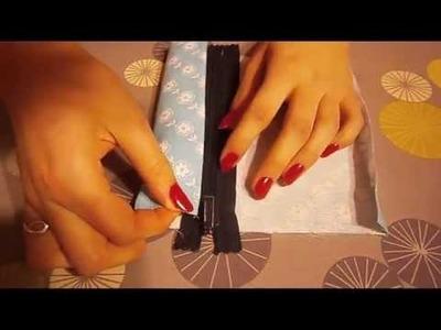 DIY:Łatwa kosmetyczka.