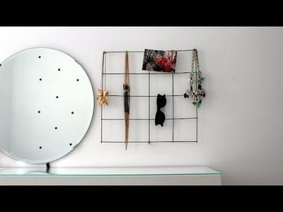 DIY - organizer.wieszak na biżuterie