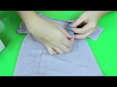 Zrób to Sama- Sukienka dziecięca z  męskiej koszuli - DIY [Coza Szycie]
