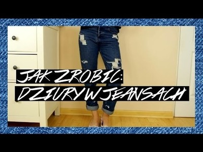 DIY : DZIURY W JEANSACH #fashionTALK - czyli szarpiemy spodnie! | jeansy zrób to sam - haul zakupowy
