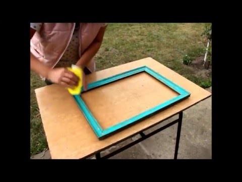 DIY jak odświeżyć starą ramę