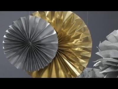 Dekoracje sylwestrowe DIY - papierowa rozeta