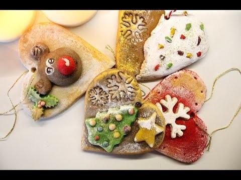 Ozdoby świąteczne z masy solnej- zawieszki świąteczne. DIY christmas decorations
