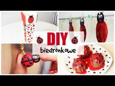 BIEDRONKOWE DIY | kolczyki, babeczki & paznokcie