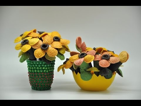 Jak zrobić kwiatki  # How to make flowers    DIY