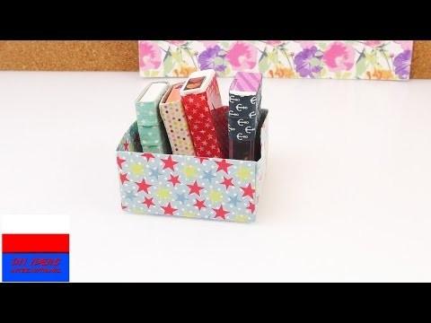 Kolorowe pudełeczka organizery z opakowań po Tik Takach DIY
