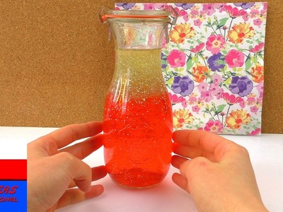 DIY butelka antystresowa z lawą | kuleczki Orbeez i brokat | dekoracja biurka
