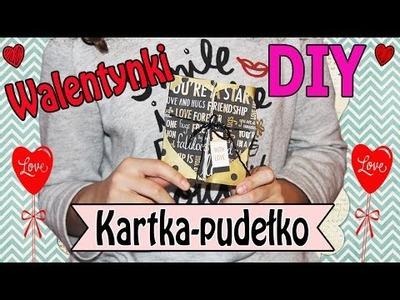 KARTKA-PUDEŁKO NA WALENTYNKI - DIY