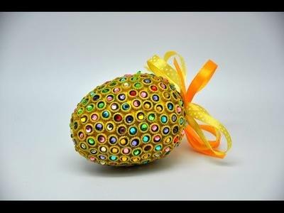 Pisanka z cyrkoniami krok po kroku # Egg crafts DIY