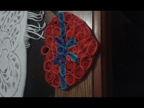Walentynkowe serce z quillingu-(tutorial,diy)