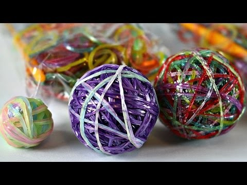 DIY - Bouncy Ball Out Of Rainbow Loom Bands. Skaczące Piłeczki z Gumeczek Rainbow Loom