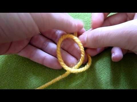 Nauka szydełkowania - pętelka początkowa (crochet slip knot)