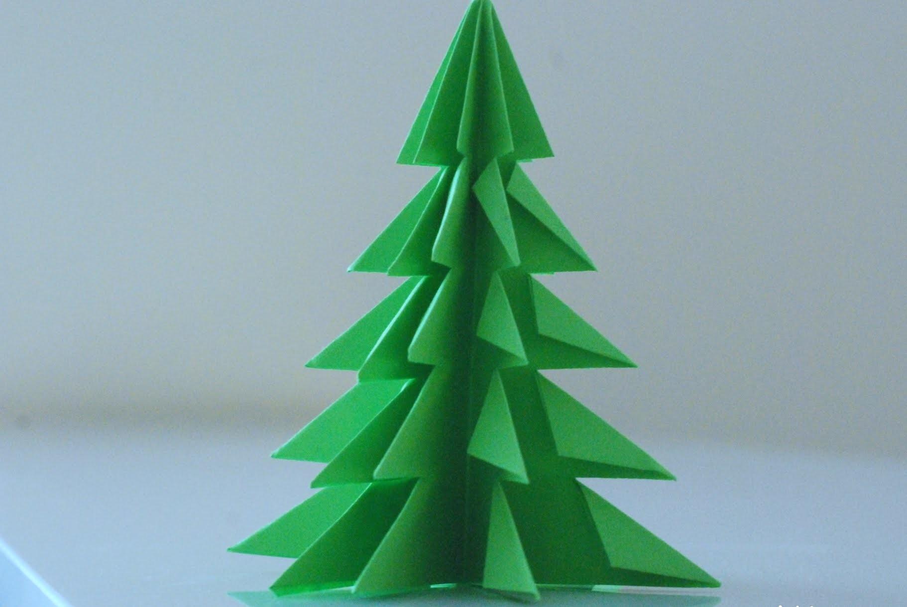 Make An Origami Christmas Tree