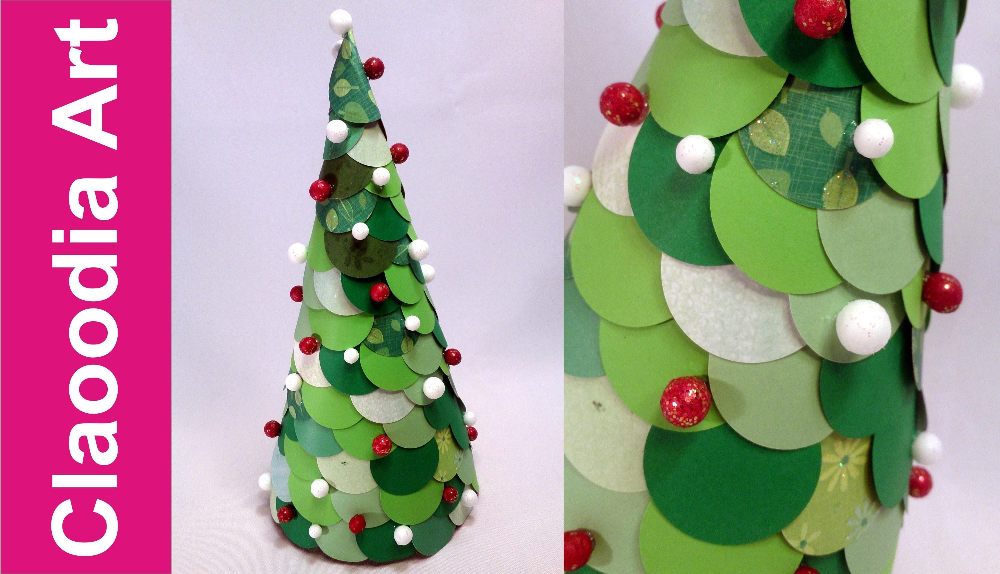 Choinka z kółek z papieru (paper christmas tree)