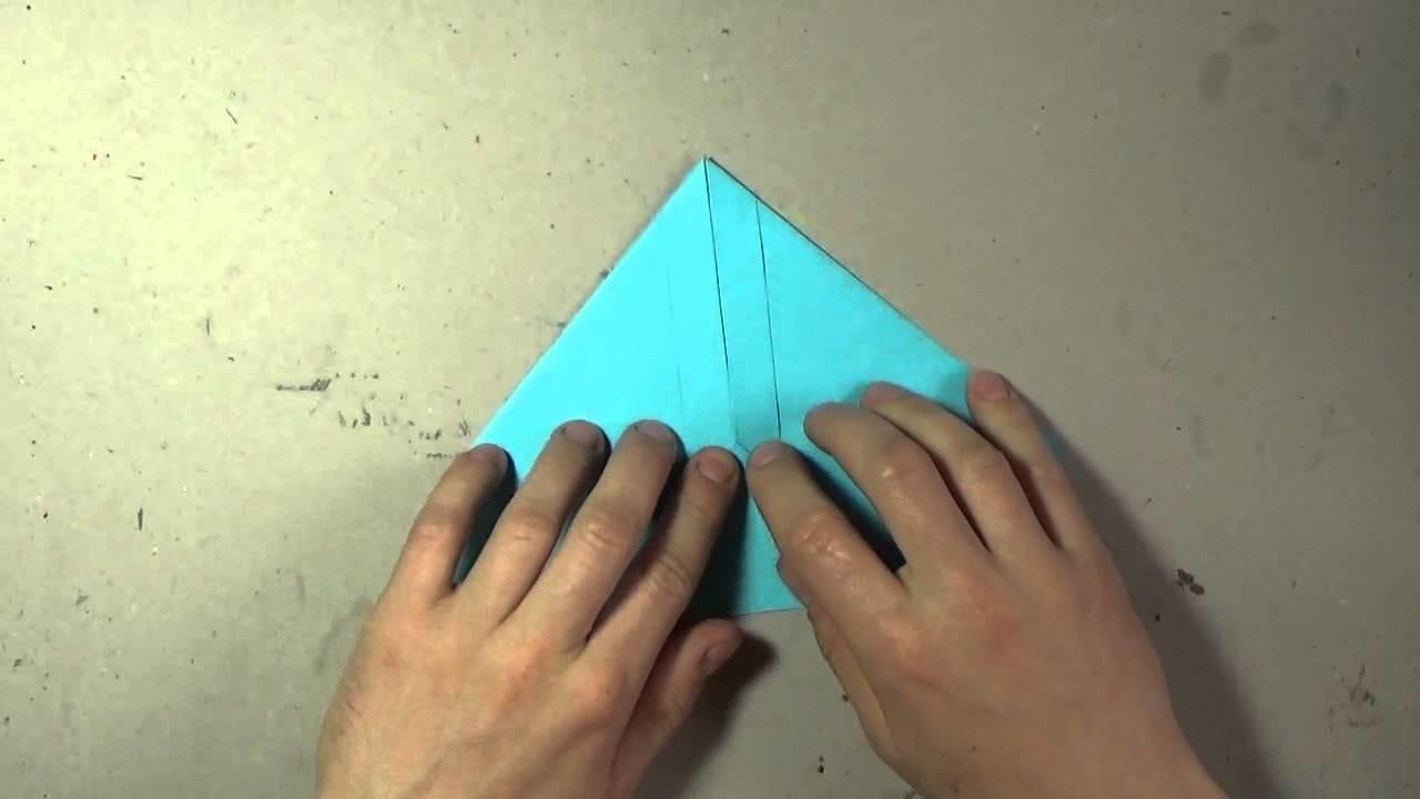 Jak zrobić papierowy samolot - origami #4. How to make a paper airplane #4
