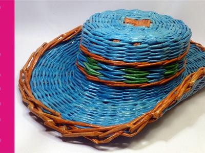 Kapelusz z papierowej wikliny (hat, paper wicker)