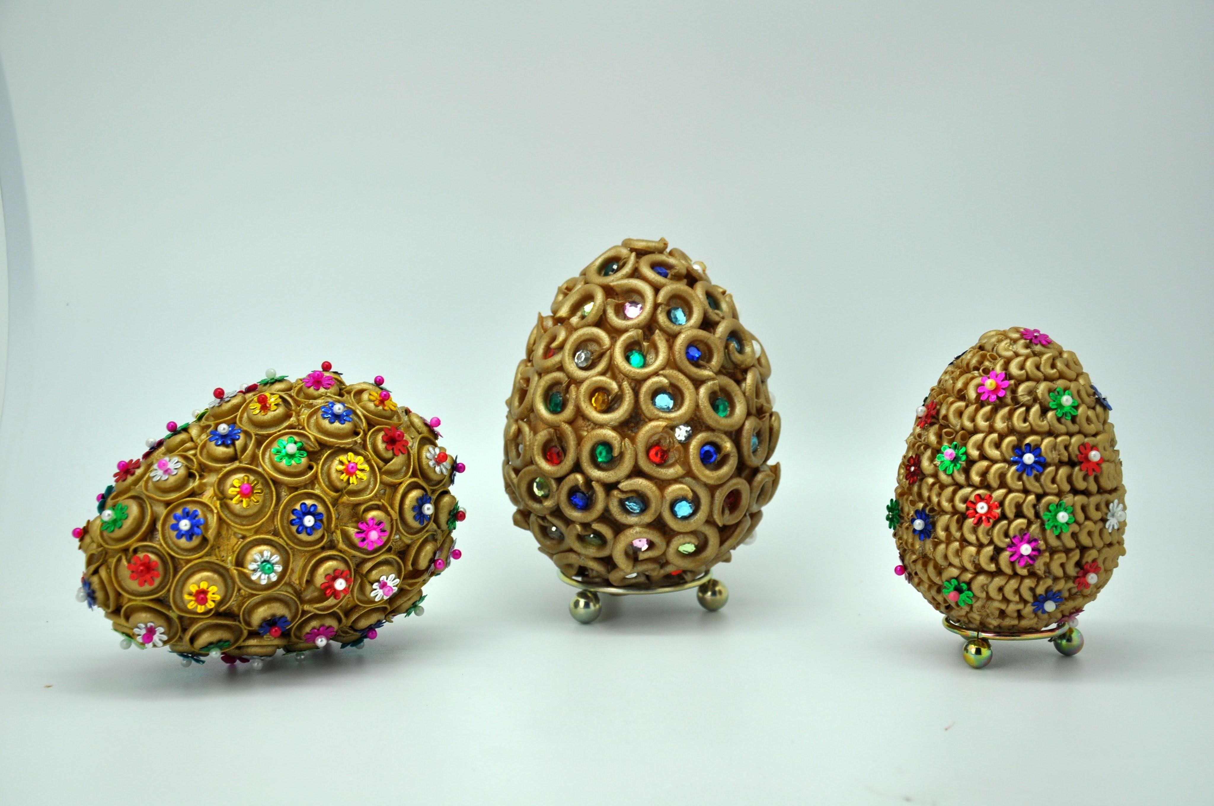 Pisanka z jetów i makaronu krok po kroku  # Egg crafts DIY