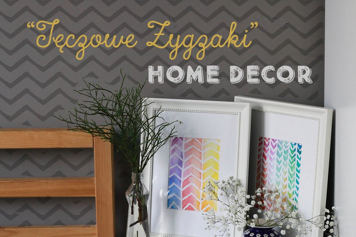 Home Decor: Tęczowe Zygzaki DIY