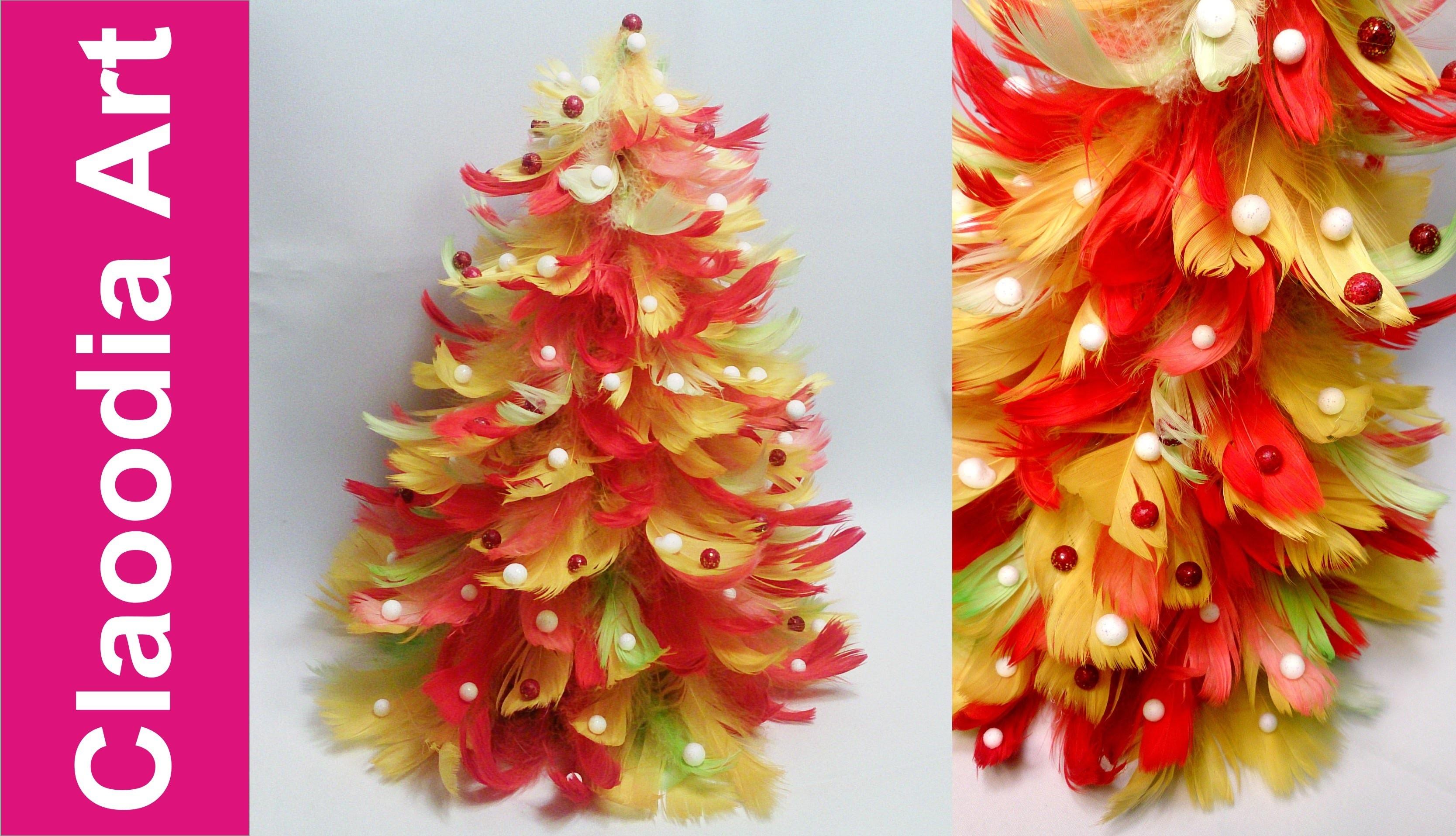 Choinka z piór (Feather Christmas Tree)