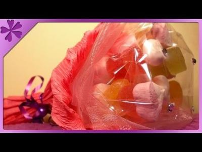DIY Bukiet ze słodyczy. Candy bouquet (+ENG Annotations) - Na szybko #20