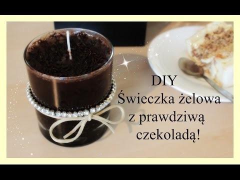 DIY Jak wykonać żelową świeczkę z prawdziwą  czekoladą ! | beautystarlet