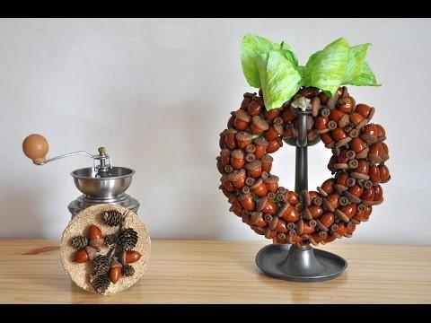 Wianek z żołędzi   krok po kroku # Wreath of acorns  DIY