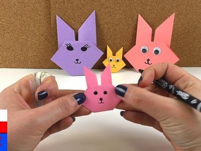 DIY International | zające wielkanocne z origami | proste zające z papieru