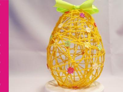 Jajko z włóczki (Yarn Easter Eggs, DIY)