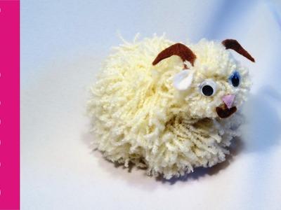 Baranek z pomponów (Lamb, pompoms)