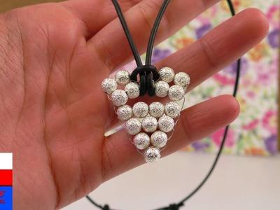 Aztecki naszyjnik  | wisiorek z perełek i drutu – zrób to sam