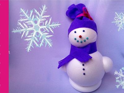 Bałwan ze styropianu, krok po kroku (styrofoam snowman)