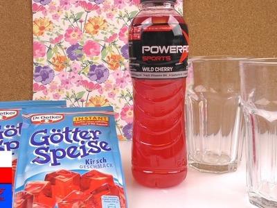 Butelka Powerade z galaretki | super niespodzianka | Powerade wilde cherry